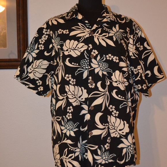 e219f4c7 BLUE HAWAII Shirts | Shirt Size L Mens Black Floral Hawaii | Poshmark